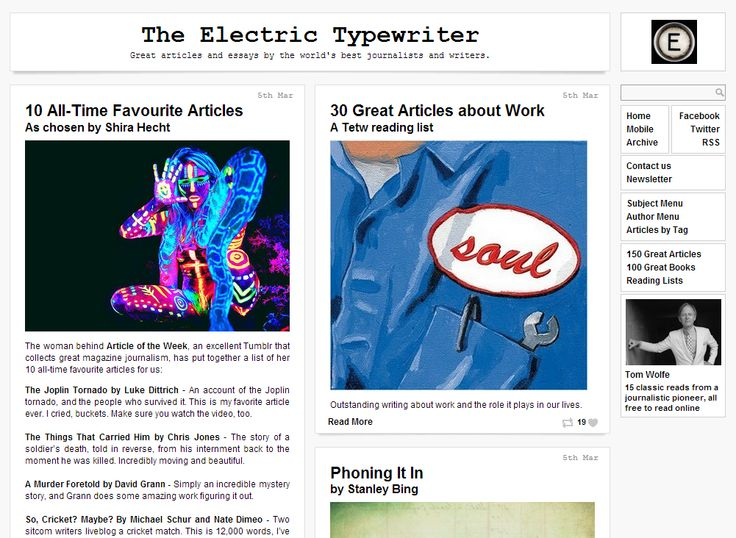 Sites We Like: The Electric Typewriter