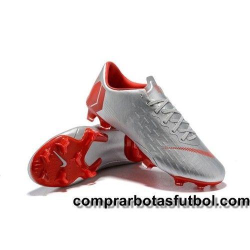 hot sale online 08ebe e9de6 Crear Botas De Futbol Nike Mercurial Vapor XII Pro FG Plateado Rojo   Nike  Mercurial Vapor XII FG   Nike, Futbol