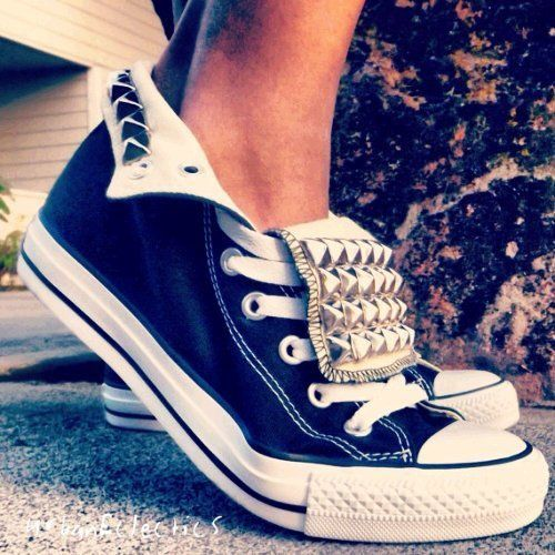 studded converse shoes, probably the only tennis shoes I would wear!