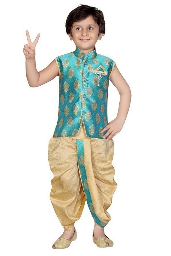 Kids Boys Ethnic Indian Pakistani Sherwani by Varshinicollections