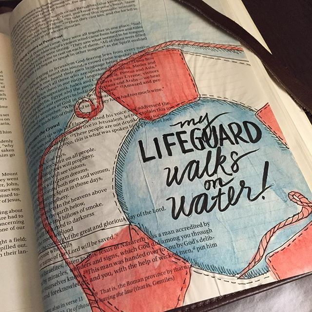 I created a nautically-themed page in my bible, reminding me that the One who…