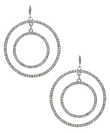 ABS Crystal Circle Earrings #maxandchloe