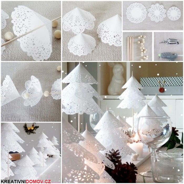 Zimní dekorace z podtácků