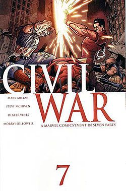 Civil War - I still wish I had the essay I wrote on this, and why comic books are an art form.