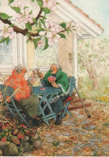 Awsome grannies art by Inge Look- When I am older this is where I want to be,at home with my friends laughing and enjoying their company:)