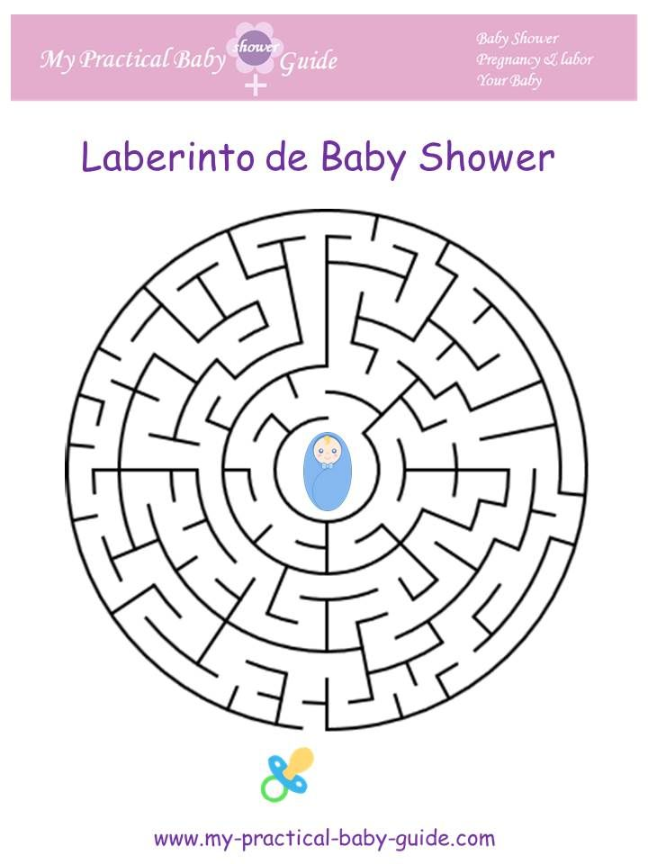 #Laberinto de #Baby #Shower. #Juegos #de #Baby #Shower #en #Espanol #Juegos #Imprimibles #Gratis de Baby Shower. Free Printable Baby Shower Game Maze in Spanish.