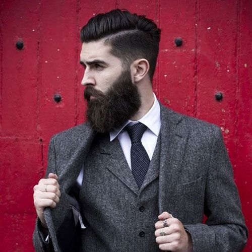 Gentlemen's Cut - Comb Over with Beard