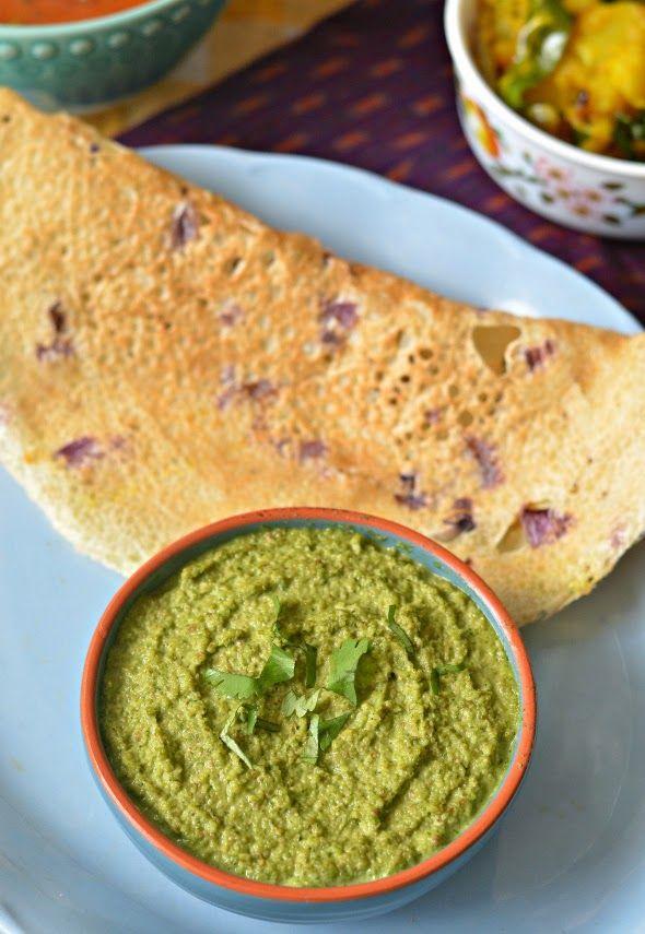 Low fat Protein rich Peanut coriander chutney.. Use as a dip, spread ...
