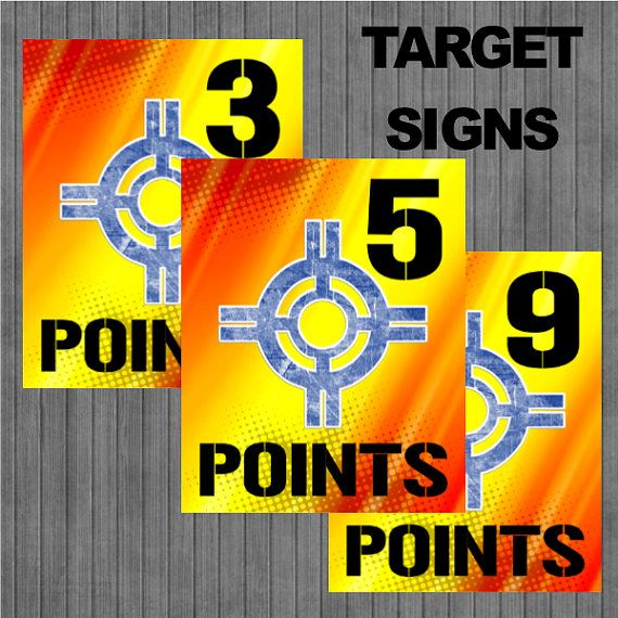Flash Sale Nerf Target Signs By Copaladesigns On Etsy J