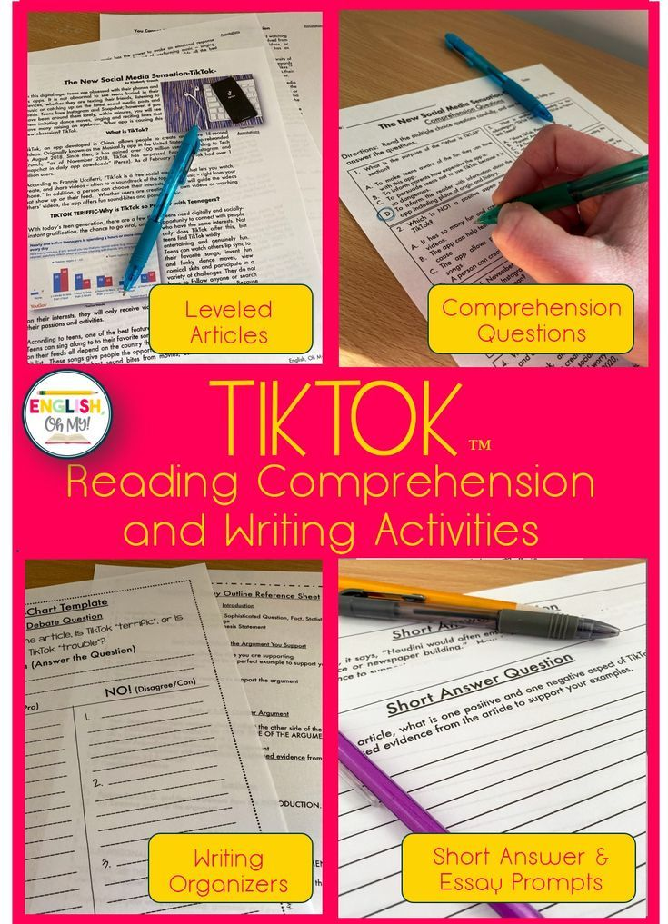 Tiktok Article Reading Comprehension Questions English Oh My Reading Comprehension Questions Reading Comprehension Writing Activities