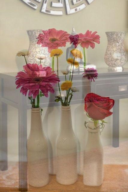 Startling Unique Ideas Glass Vases Photography beer bottle vases