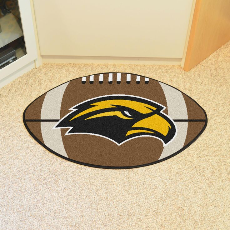 University of Southern Mississippi Football Rug 20.5x32.5