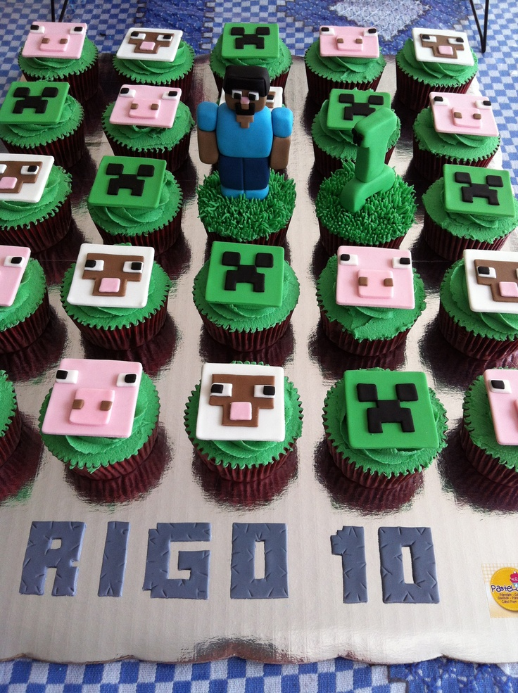 Minecraft cupcakes | Lo último!! | Pinterest | Minecraft ...