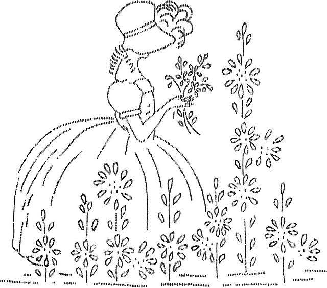 Dama em flor risco