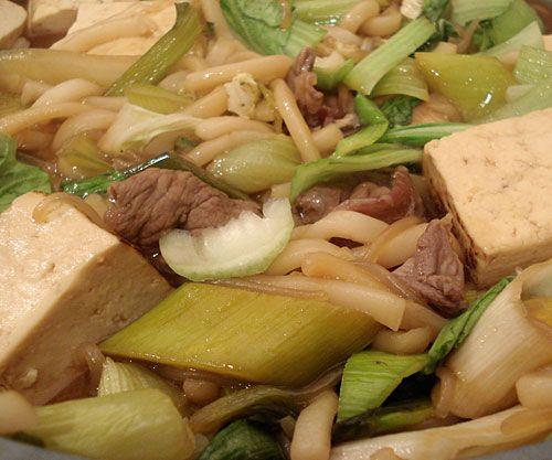 made this sukiyaki for dinner last night! I always change the ...