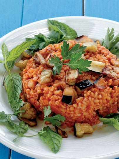 Patlıcanlı bulgur pilavı Tarifi - Türk Mutfağı Yemekleri - Yemek Tarifleri