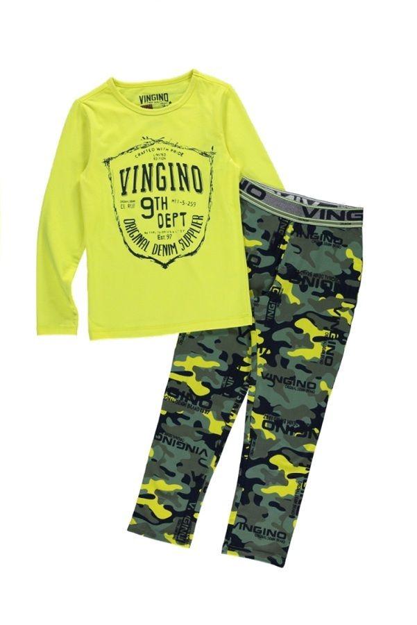 Vingino pyjama voor jongens Wibo, geel
