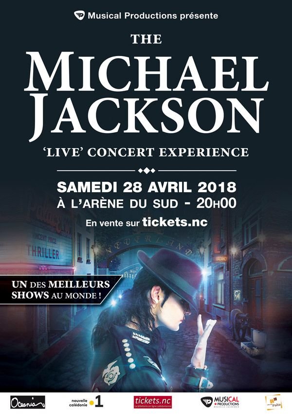 April 28 at L'Arene du Sud in NOUMEA, NEW CALEDONIA!!! A Michael Jackson Live Concert in a big arena show joined by my 12 piece ensemble. Tickets here: https://www.tickets.nc/index.php…