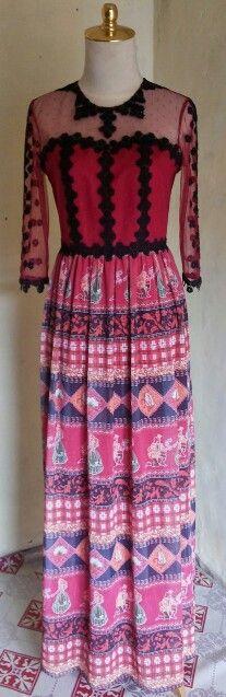 Long dress maroon by dKurnia boutique
