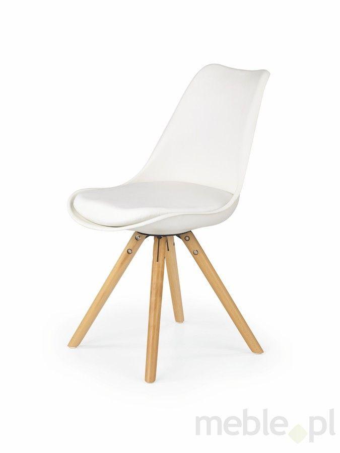 Krzesło K-201 białe, Halmar - Meble