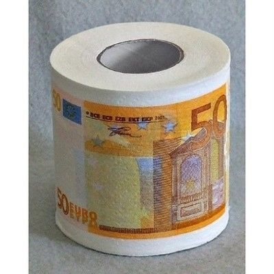 Fifty-euro-bill toilet paper: Toilet Paper Rolls, Toilets Paper Rolls, Fifty Euro Bil Toilets, Fiftyeurobil Toilets, Novelty Toilets
