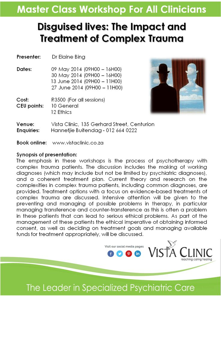 Master Class Workshop for Clinicians