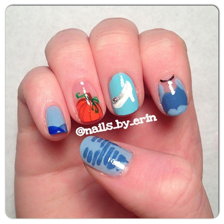 cinderella nails ideas