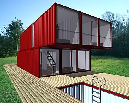 40 best images about shipping container homes on pinterest - Lot ek container home kit ...