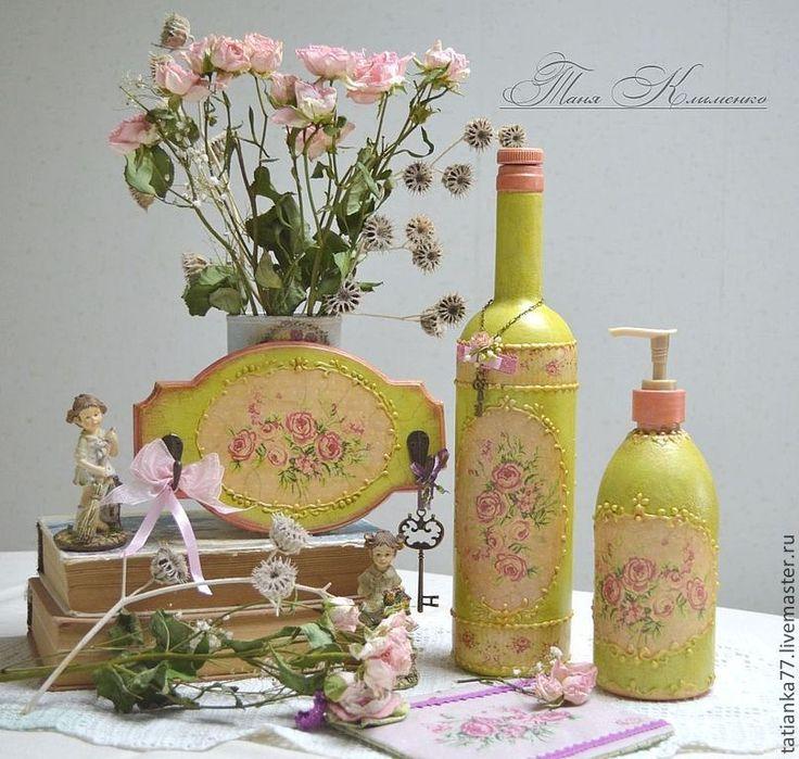 """Купить Набор для кухни .""""Пыльные розы."""" - бледно-розовый, розовый, розовые розы"""