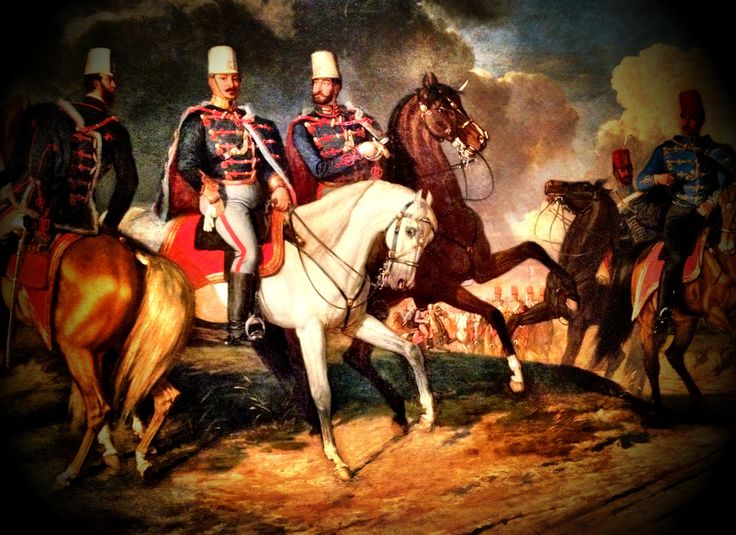 Hungarian Honvéd Hussar Officers from the 16th Regiment (Károlyi) 1848-49