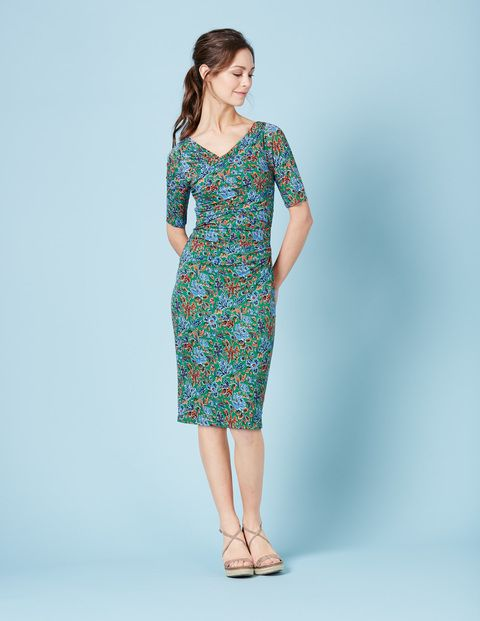Love this dress! Like floral pattern with emphasis on either green, blue or purple