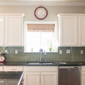 Spraying Kitchen Cabinets White