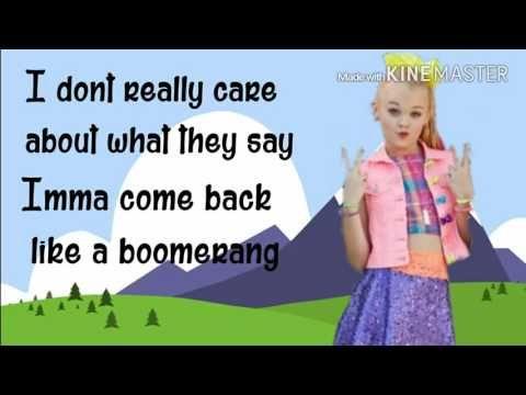 BOOMERANG - Jojo Siwa | Lyrics Video | TwilightMusic - YouTube