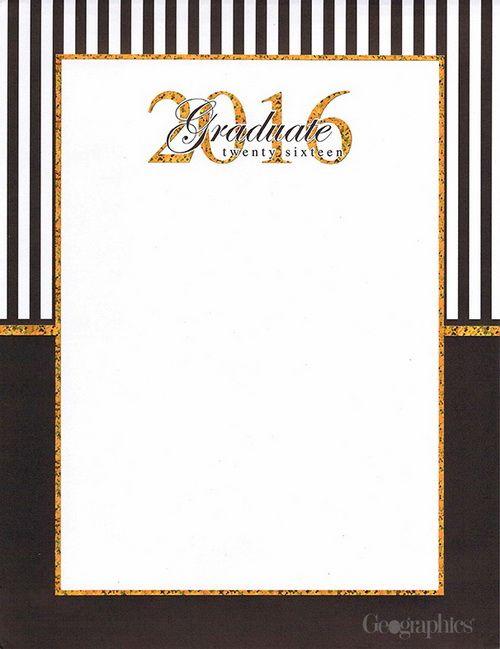 Graduation Holographic Letterhead, Gold Foil, 8.5x11, 25/PK, 5 Pks/Case