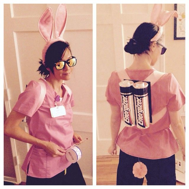 My DIY halloween costume for work; hence the scrubs i'm wearing. The batteries…