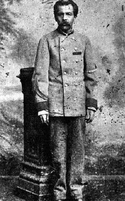 Tadeo Sandoval. Sargento del Regimiento de Artillería Naval.