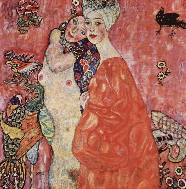 Gustav Klimt  - Two Women Friends, 1917