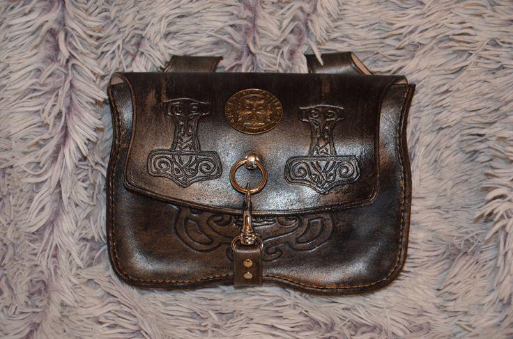 Mittelater Gürteltasche Leather Vikings