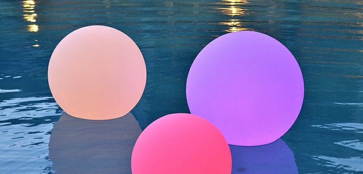 These Rainbow Spectrum Orbs are so cool- they come with a rechargeable base, remote control and are completely waterproof.