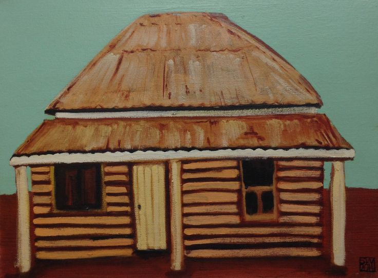 Outback humpy - oil on canvas - 940 x 30 cm) sold