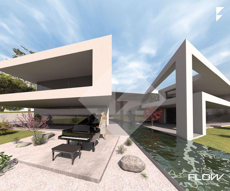 25 besten luxush user moderne architektur bilder auf for Modernes haus hanglage
