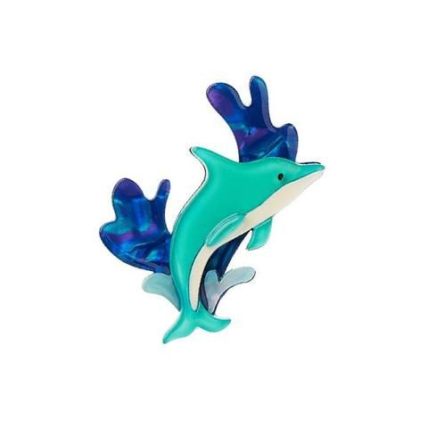 "Erstwilder Limited Edition Echo of the Ocean Brooch. ""A high level of emotional intelligence can be a burden as much as a blessing. Please don't misinterpret our playful acrobatics. """