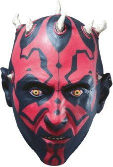Darth Maul Costume Mask, You child will wage war for the Dark Side when they wear this Darth Maul mask from Star Wars. Costume includes:3/4 Vinyl Child Mask, #Apparel, #Masks