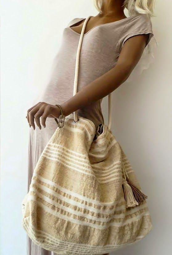 KARMA: Handmade handbags made of cotton and flax ❤     #Handmade #cotton #woven #summer