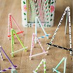 Paper straw easel by Craft & Creativity