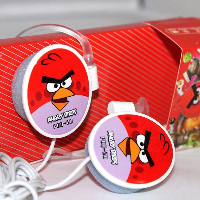 Наушники Angry Birds овальные, красные