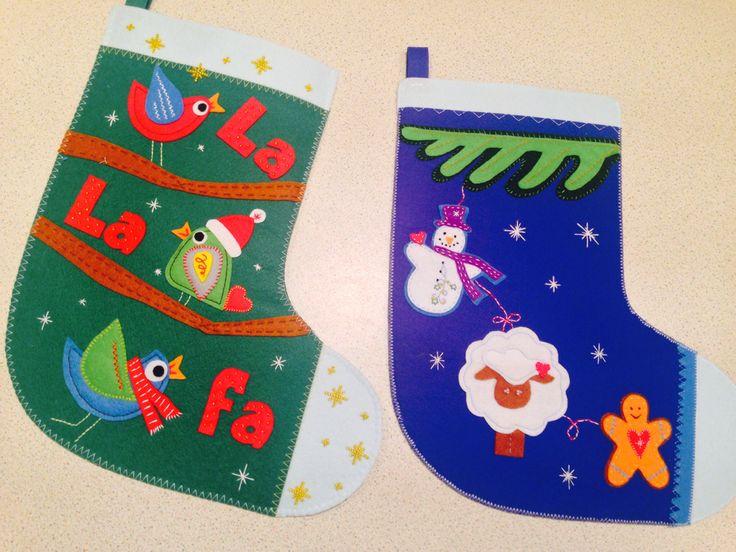 Christmas stocking / diy  /Рождественские чулки  На заказ