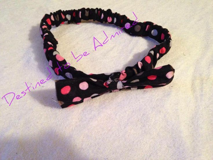 Scrunchie Fabric Headband with a bow.   $8.00