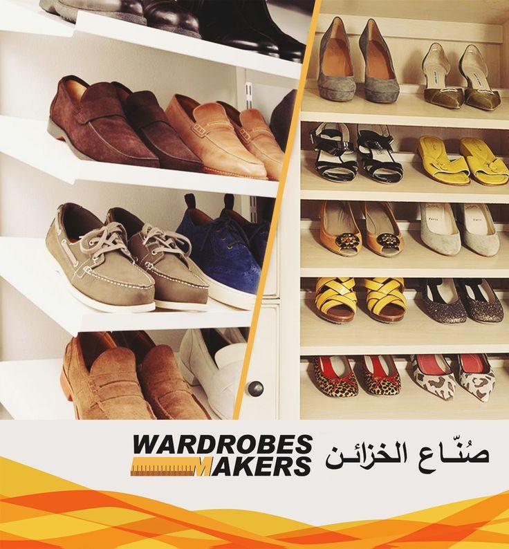 ميزات يمكن استخدامها لخزانة ملابسك حامل احذية مائل تخزين الاحذية على الرفوف المائلة يجعل من السهل رؤية محتويات الرف قبل تثبيت ا Shoe Rack Wardrobes Ili