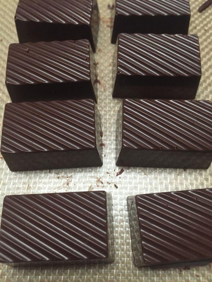 Dark chocolate with salted dulche de leche